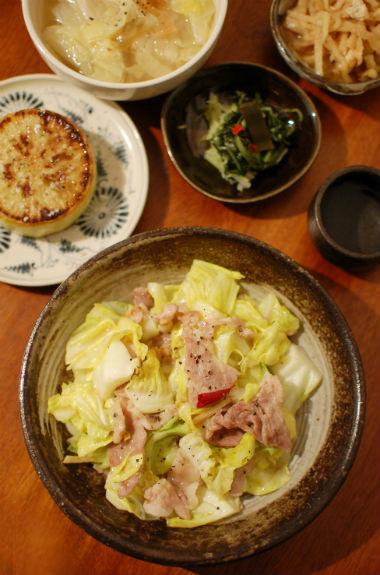 春キャベツと豚肉の味噌炒め