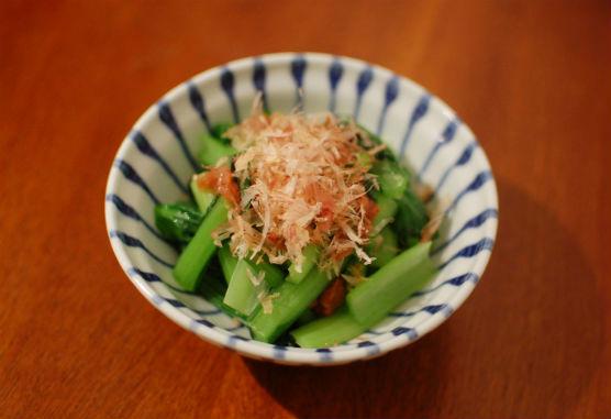 小松菜の梅おかか和え