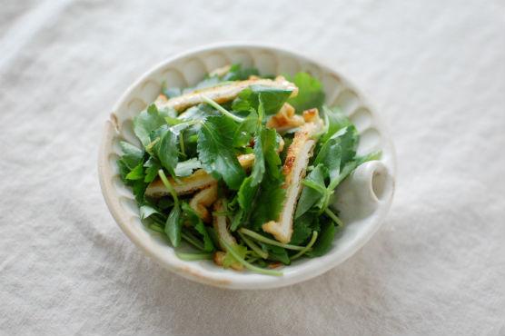 三つ葉と揚げのサラダ