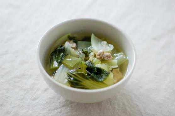 青梗菜のしょうがスープ