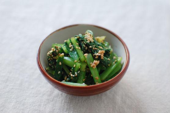 小松菜のごま酢和え