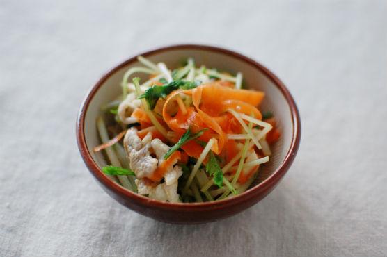 野菜と豚肉のポン酢和え