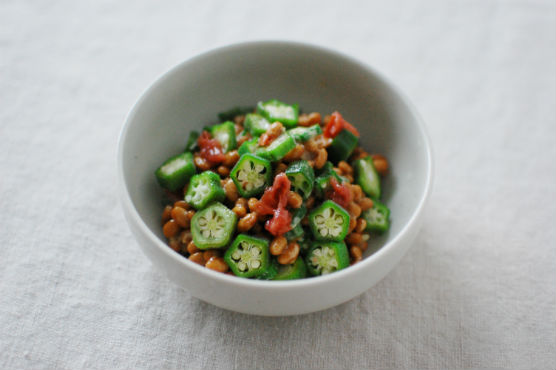 梅オクラ納豆