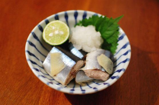 秋刀魚のしょうが蒸し