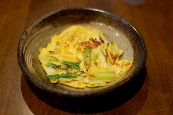 葱と卵の炒めもの