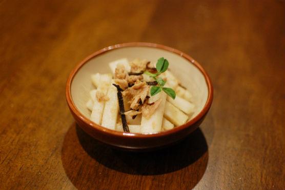 大根と塩昆布のサラダ