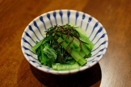 小松菜の塩昆布和え