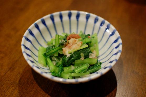 小松菜の梅おろし和え