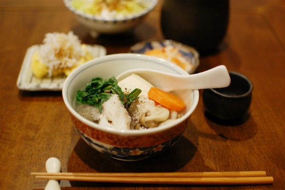 鱈(たら)豆腐の献立