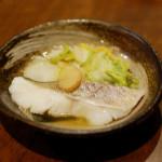 たらと白菜のしょうが煮、しらすとピーマンの酒煎り献立。