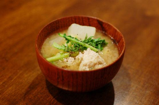 肉団子と豆腐の味噌汁