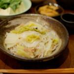 白菜と春雨の煮もの、青梗菜としめじのスープ献立。