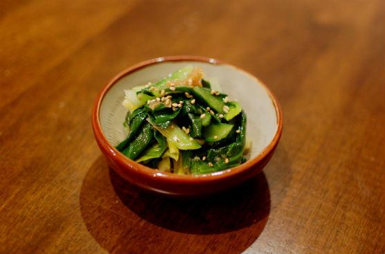 小松菜の梅胡麻和え