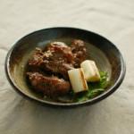 カシラ塩焼き、キャベツ味噌で家飲み。