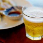 ニラ餃子とビール