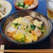 海老とセロリの卵炒め献立