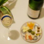 カヴァで家飲み 11/3 秋鮭と春菊のグラタン。