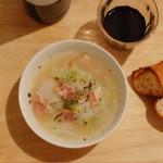 家飲み献立 11/23 ベーコンと白菜のスープ。