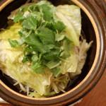 家飲み献立 12/14 野菜たっぷりの蒸し鍋。