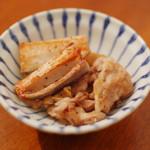 家飲み献立 12/16 豚肉とれんこんの塩焼き、白菜とトマトのスープ。