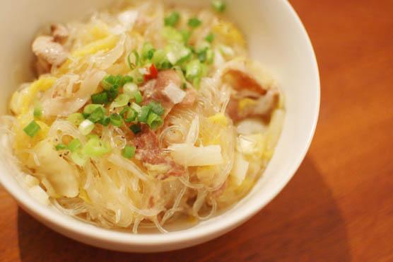 白菜と春雨のうま煮 レシピ 141217d