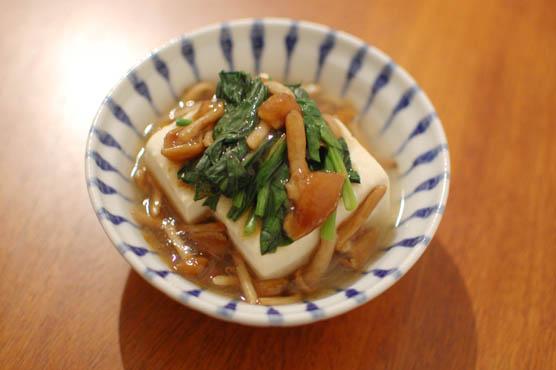 なめこ 湯豆腐 レシピ 141220d3