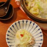 家飲み一人鍋 1/13 白菜と春雨のうま煮鍋、温奴。