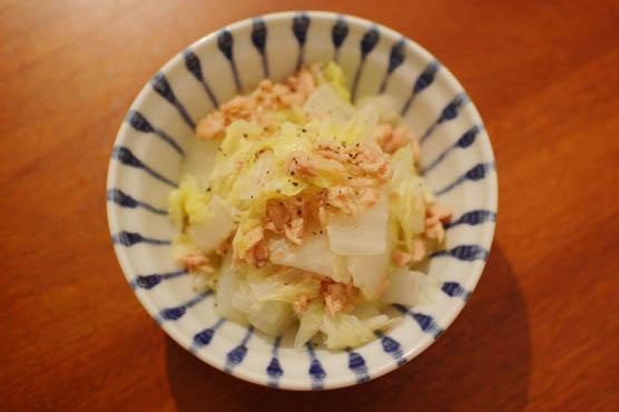 白菜とツナの温サラダ レシピ