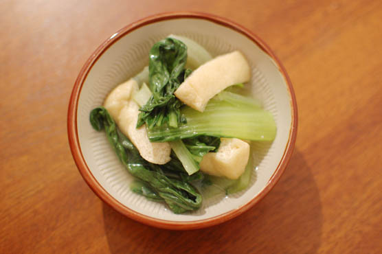 青梗菜の煮浸し