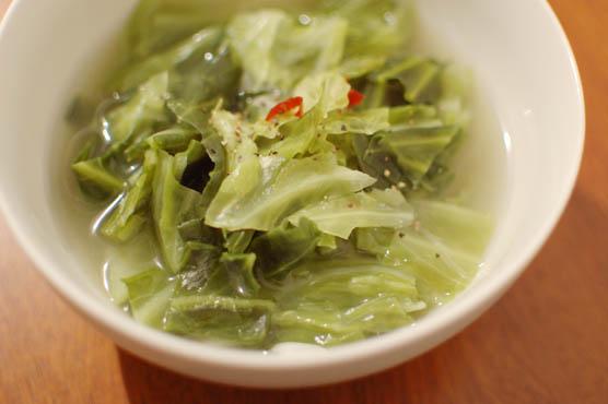 キャベツのエスニックスープ レシピ