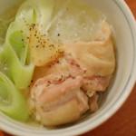 家飲み献立 2/15 鶏もも肉と春雨のしょうが蒸し、茹でキャベツの卵ソース。