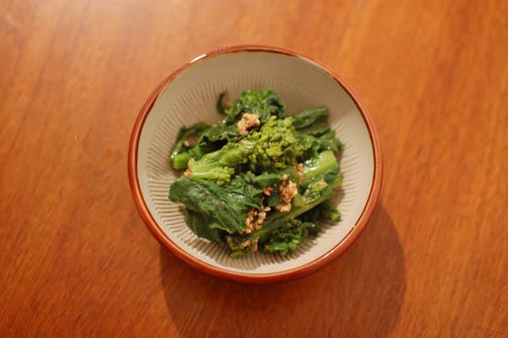 菜の花の胡麻和え レシピ
