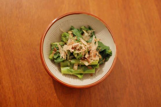 菜の花のおひたし レシピ