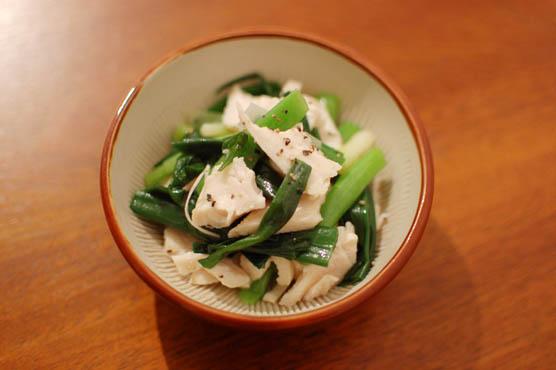 葱と蒸し鶏のごま油和え レシピ