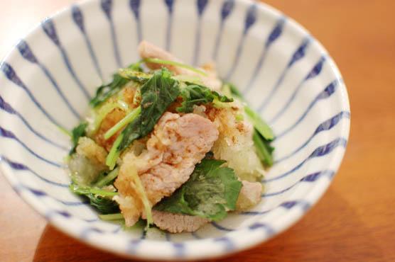 塩豚と三つ葉のおろし和え レシピ