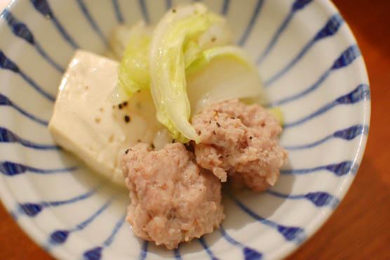 肉団子と白菜の蒸し鍋 レシピ