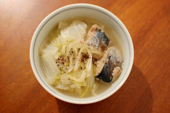鯖水煮缶と白菜のしょうが煮 レシピ