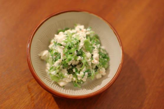 塩もみキャベツの白和え レシピ