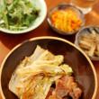 塩豚と白菜のソテー献立