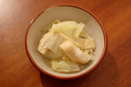 白菜の生姜煮浸し レシピ