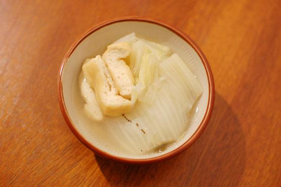白菜のしょうが煮浸し 作り方