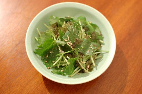 三つ葉と海苔のサラダ