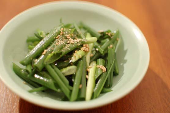 生葱のナムル