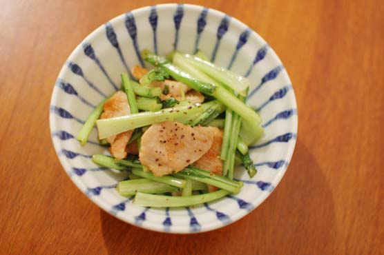 塩豚と蕪の炒め物