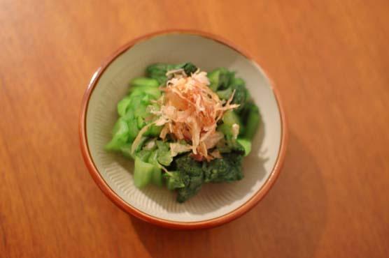 小松菜のレモン醤油