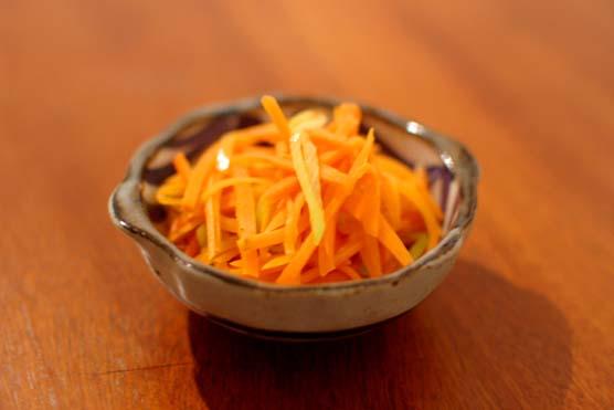 にんじんと葱の炒め物