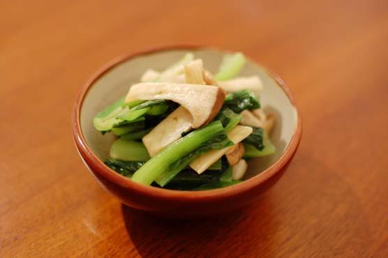小松菜とエリンギの和え物