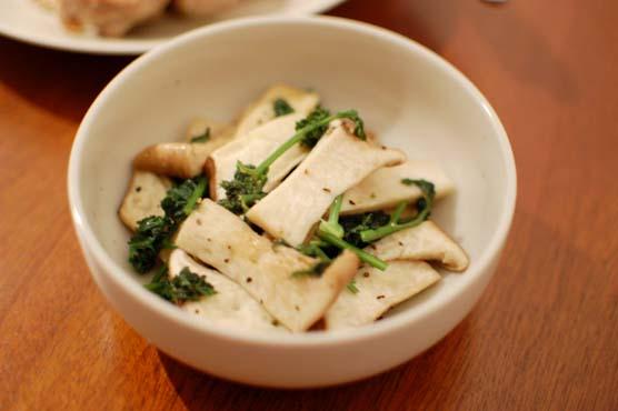 エリンギとパセリの温サラダ