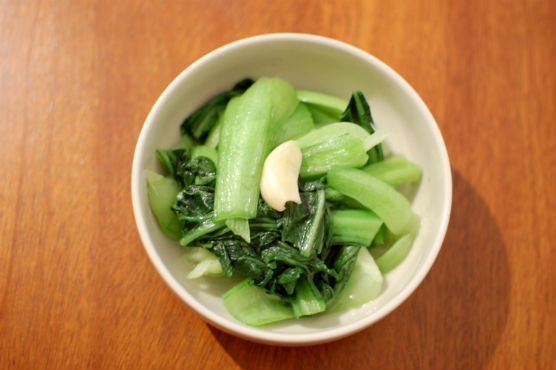 青梗菜のオイル蒸し