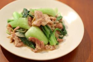 豚肉と青梗菜の炒め物